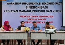 Workshop Implementasi Teaching Factory Sinkronisasi Kegiatan Magang Industri dan Kurikulum.